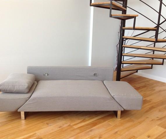 Carter futon chez soi for Sofa lit laval